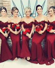 Load image into Gallery viewer, Bridesmaid-Dresses-Burgundy