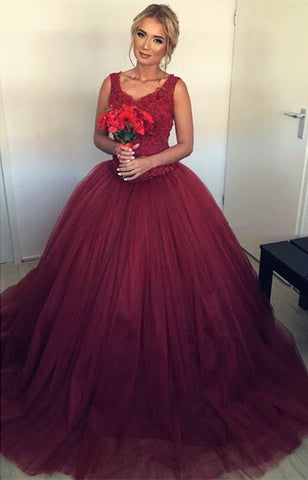 Image of Wedding Dresses Maroon