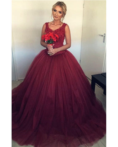 Image of Wedding Dresses Burgundy
