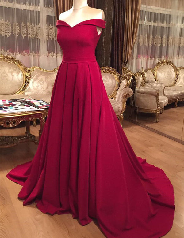 V-neck-Evening-Gowns