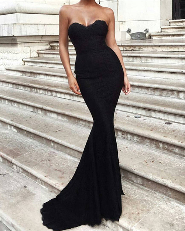 Black-Lace-Evening-Gowns