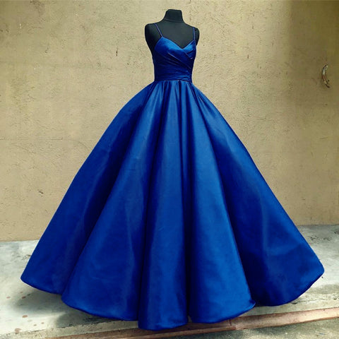 Image of Navy-Blue-Ball-Gown-Dresses