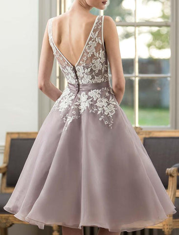 Image of Tea-Length-Bridesmaid-Dresses