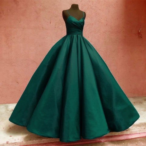 Image of Dark-Green-Quinceanera-Dress