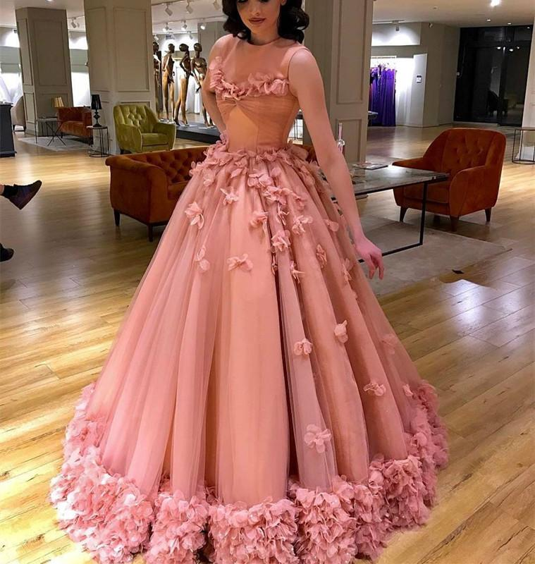 Elegant-Tulle-Quinceanera-Dresses-Ball-Gowns-Flowers-Prom-Dress