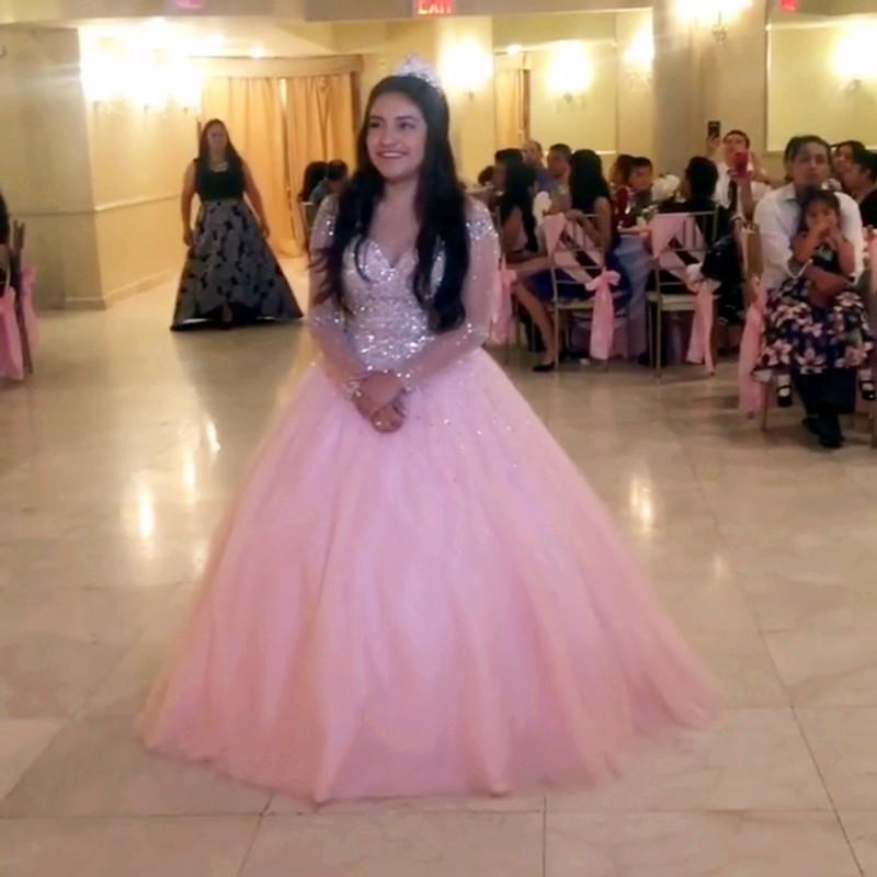 Long-Sleeves-Quinceanera-Dresses