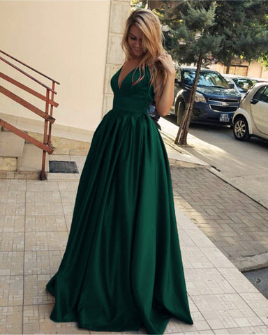 Image of Dark-Green-Formal-Dresses