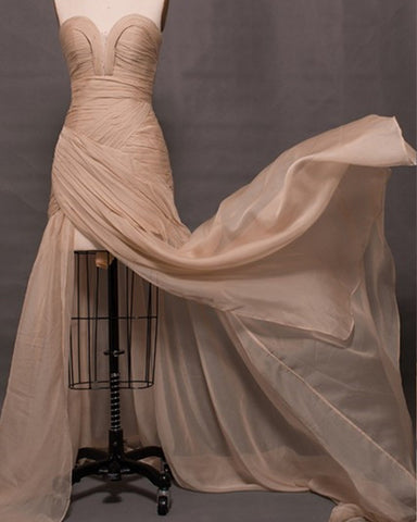 Image of Champagne-Mermaid-Prom-Dresses