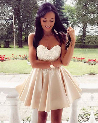 Image of Sweetheart Homecoming Dress