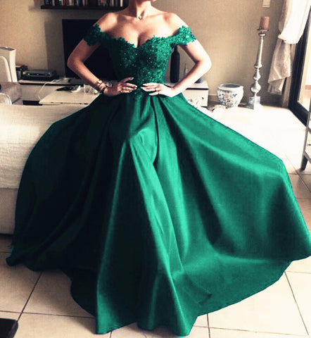 Image of Dark-Green-Mermaid-Dresses