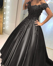 Load image into Gallery viewer, black-prom-dress