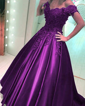 Load image into Gallery viewer, Grape-Prom-Dress