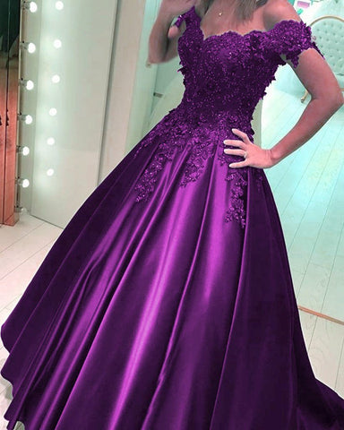 Image of Grape-Prom-Dress