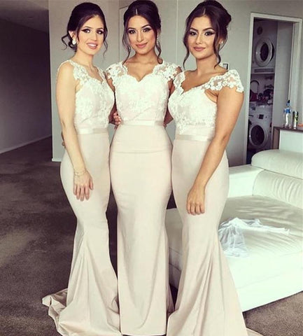 Image of Mermaid-Formal-Dresses-For-Maid-Of-Honor