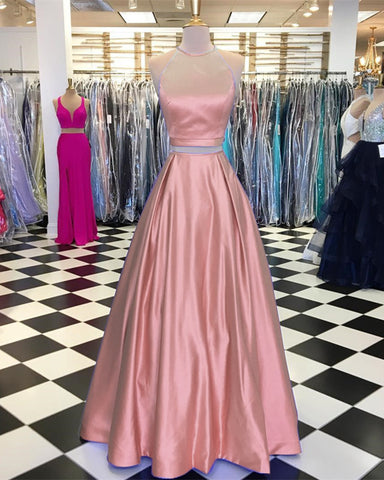 Image of Nude-Pink-Prom-Dresses