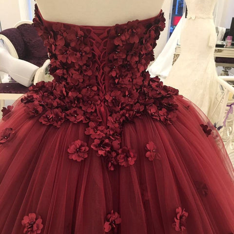 Image of Tulle-Ball-Gown-Dresses