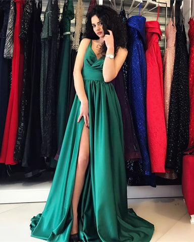 Image of Hunter-Green-Prom-Dresses
