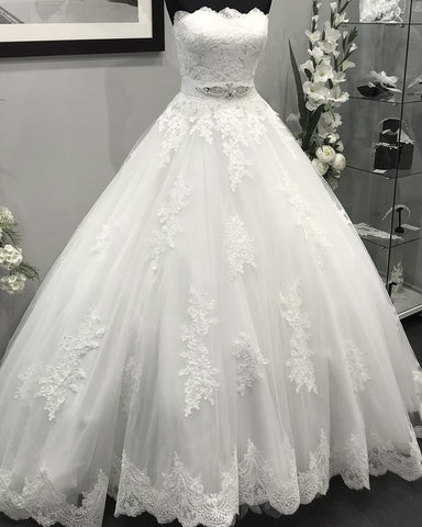Image of Robe-De-Mariage-2018-2019-Lace-Embroidery-Ball-gowns