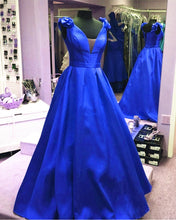 Load image into Gallery viewer, Royal Blue Ballgowns Dress