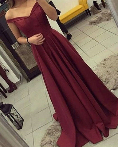 Image of Burgundy-Prom-Dresses