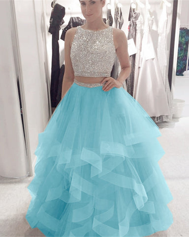 Image of Ice-Blue-Prom-Dresses