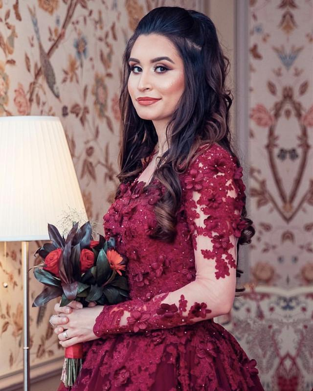Burgundy-Wedding-Dresses-Lace-Long-Sleeves