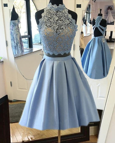 Image of Light-Blue-Homecoming-Dresses