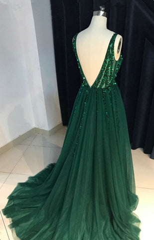 Image of Backless-Prom-Dress