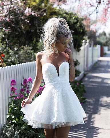 Image of White Homecoming Dresses