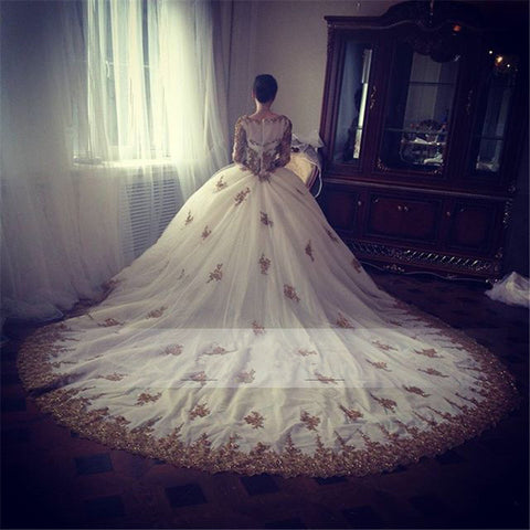 Image of Gold-Embroidery-Wedding-Dresses