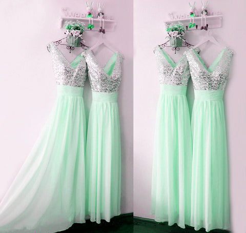 Image of Mint-Green-Bridesmaid-Dresses