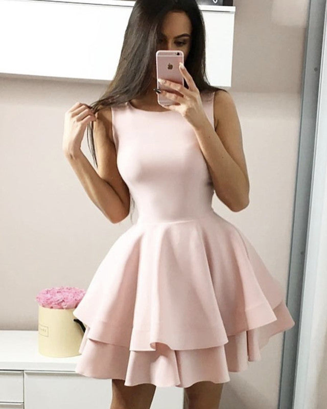 Baby Pink Homecoming Dresses 2019