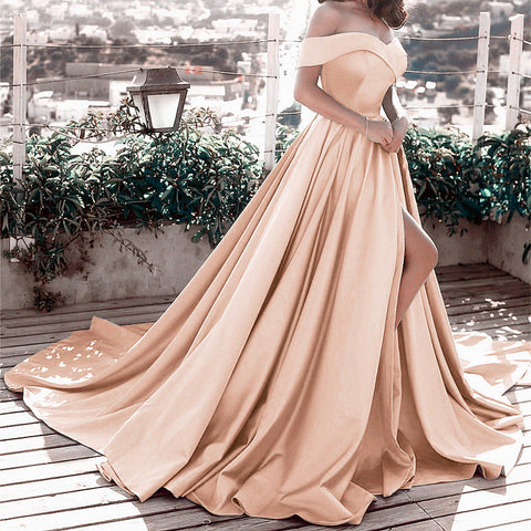 Image of Evening-Dresses-Champagne