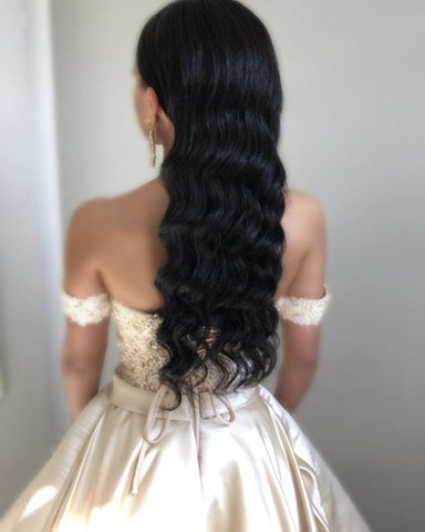 Image of Champagne-Quinceanera-Dresses-Floor-Length-Prom-Dresses-2019