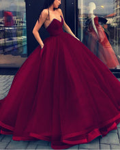 Load image into Gallery viewer, Ball-Gowns-Prom-Dresses-Burgundy-Quinceanera-Dress