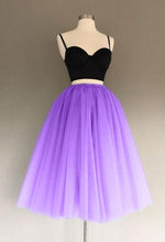 Load image into Gallery viewer, A Line Two Piece Homecoming Dresses Short Tulle Prom Gowns