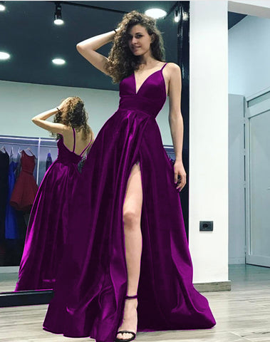 Image of Grape-Bridesmaid-Dress