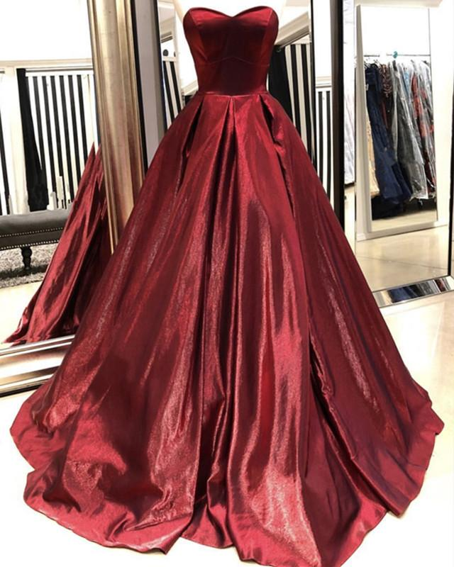 Ball Gowns Sweetheart Bodice Corset Prom Dresses 2019