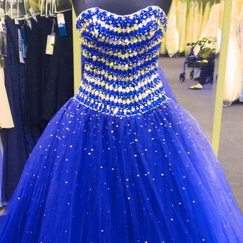 Image of sparkly crystal beaded sweetheart ball gowns quinceanera dresses 2017