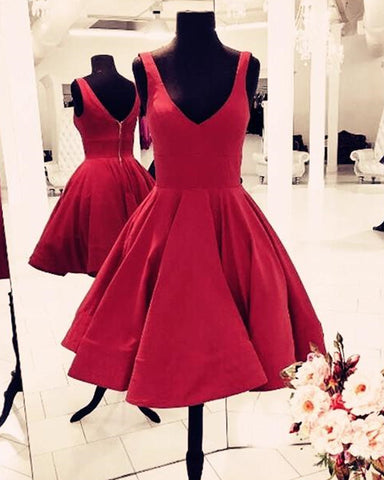Image of Burgundy Homecoming Dresses 2019