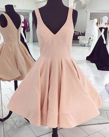 Image of Pale Pink Homecoming Dresses 2019