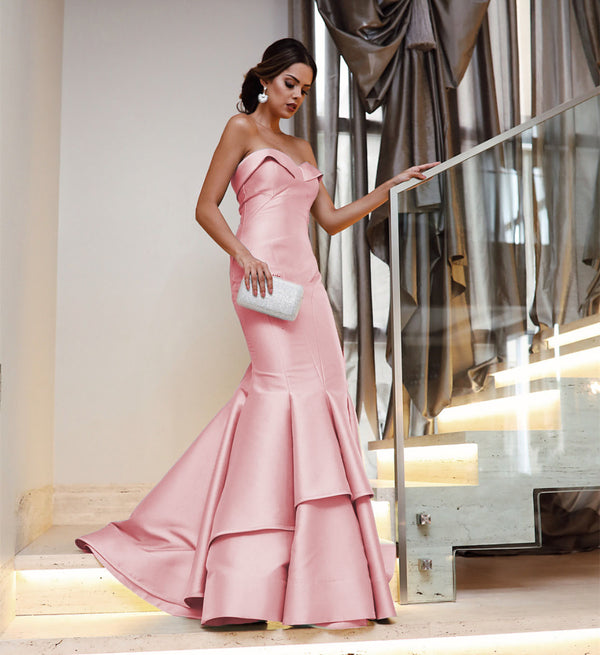 Light-Pink-Prom-Dresses-Mermaid-Evening-Gowns-Sleeveless