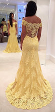 Load image into Gallery viewer, Yellow-Prom-Dresses