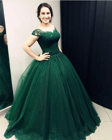 Image of Quinceanera-Dresses-Green