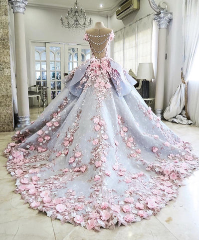 Image of Floral-Wedding-Dresses