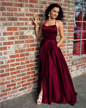 Load image into Gallery viewer, Burgundy Prom Dresses 2019