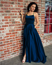 Load image into Gallery viewer, Navy Blue Prom Dresses 2019