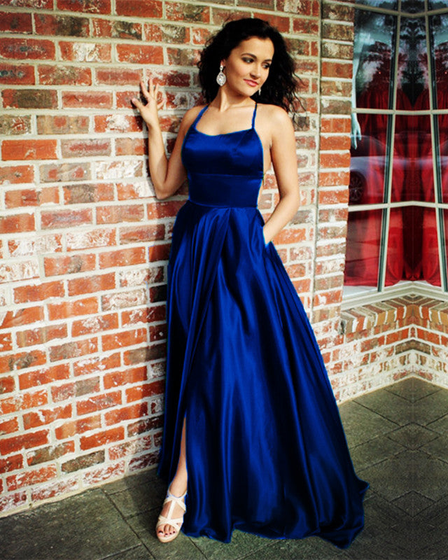 3e73e151b6 Sexy Prom Long Dresses Leg Split Evening Gown With Open Back ...