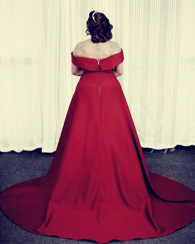 Image of Plus Size Prom Dresses Burgundy