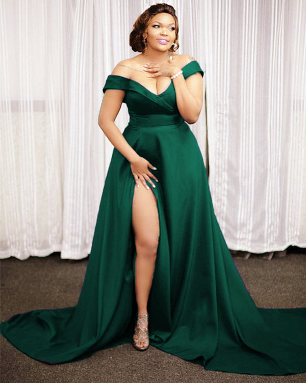 Emerald Green Prom Dresses Plus Size